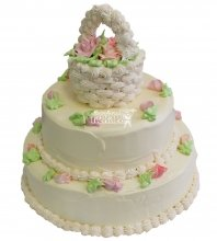№414 Свадебный торт со сливками