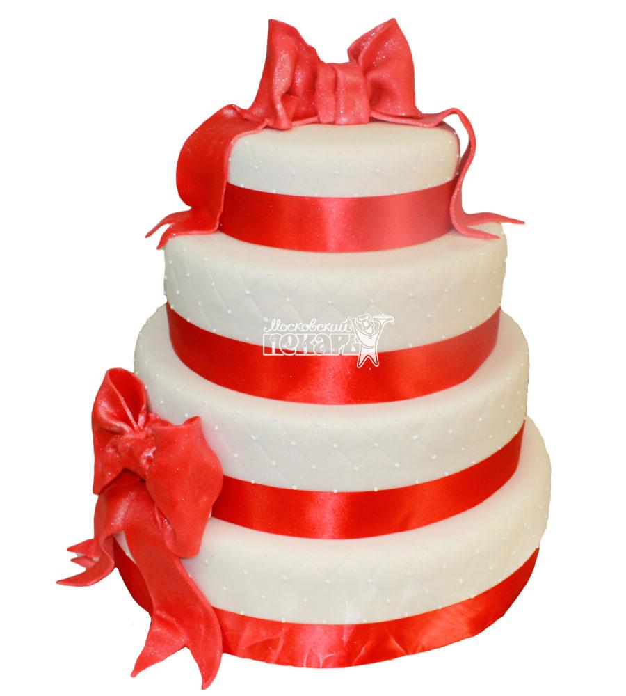 №439 Свадебный торт классический