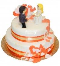 №438 Свадебный торт классический