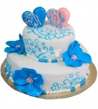 №441 Свадебный торт классический