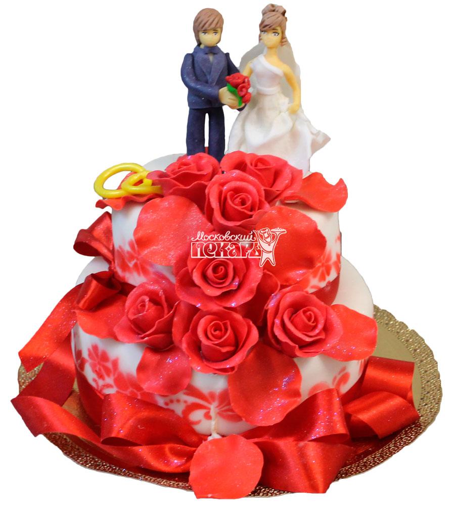 №443 Свадебный торт классический