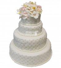 №444 Свадебный торт классический