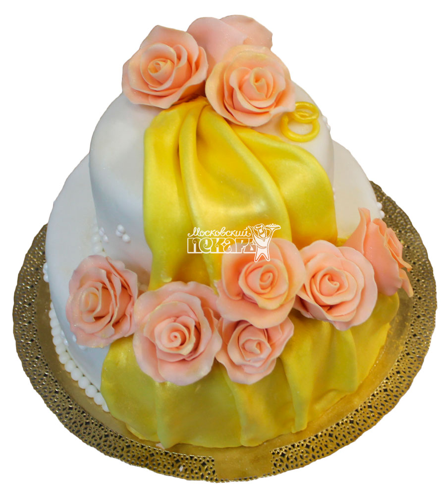 №445 Свадебный торт классический