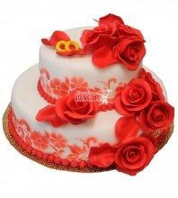 №447 Свадебный торт классический