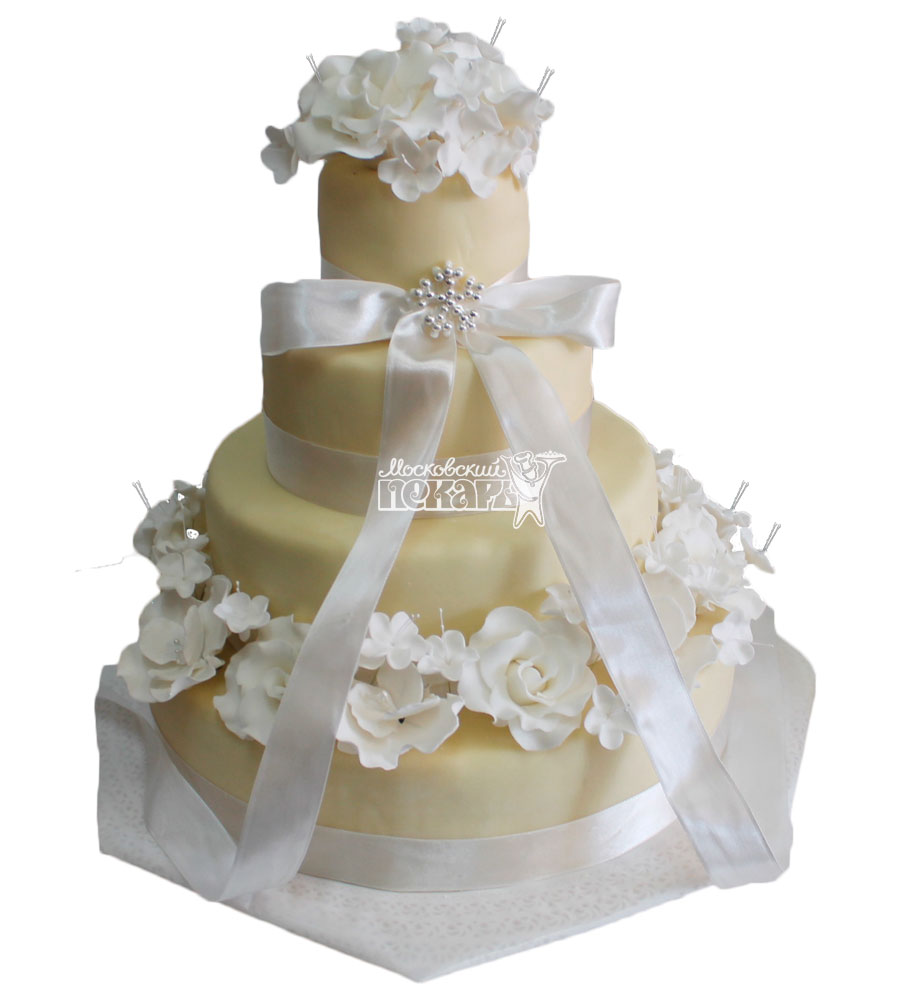 №448 Свадебный торт классический