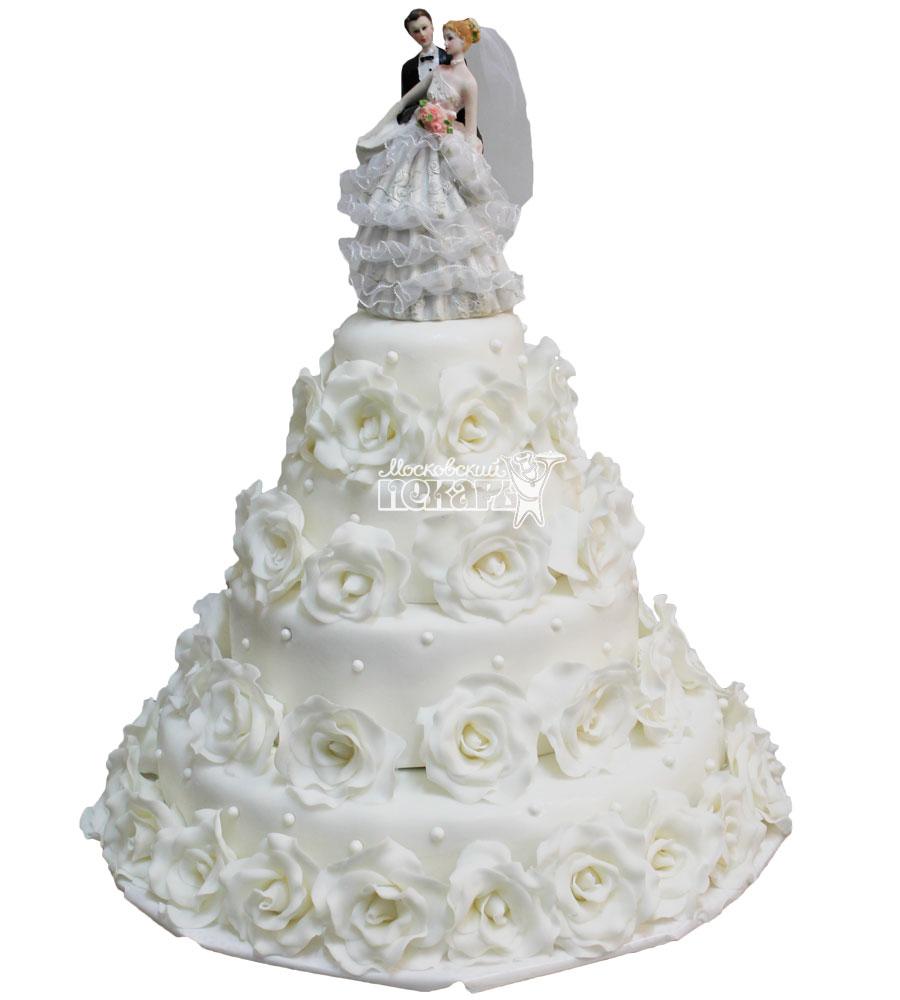 №450 Свадебный торт классический