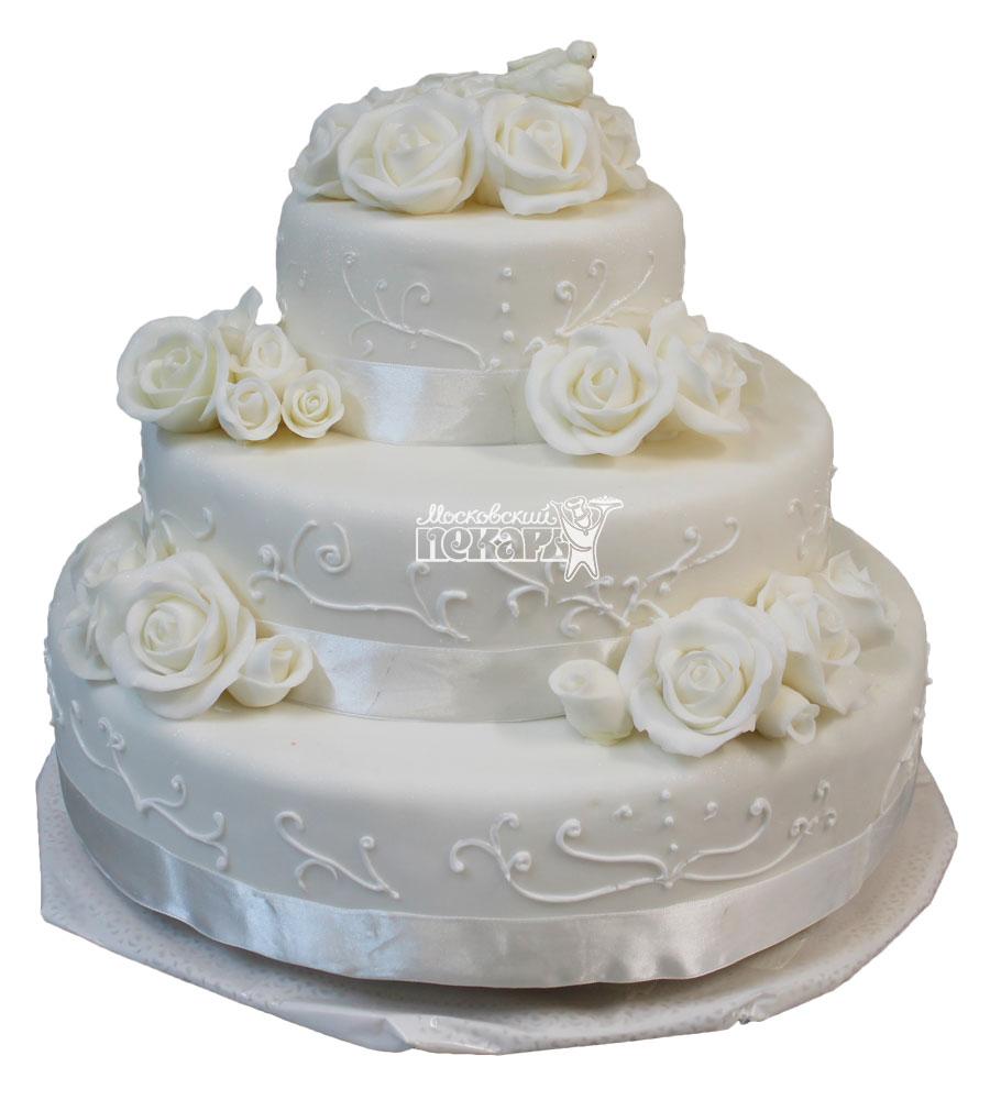 №453 Свадебный торт классический