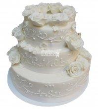 №456 Свадебный торт классический