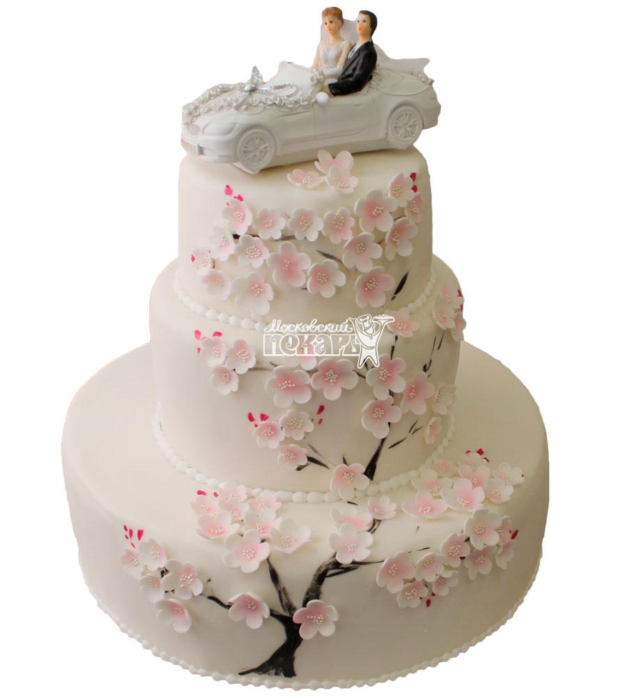 №458 Свадебный торт классический