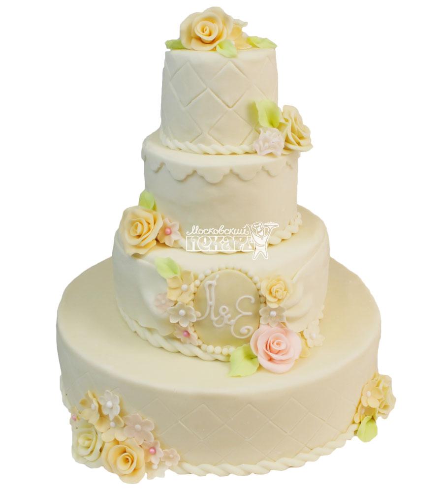 №461 Свадебный торт классический