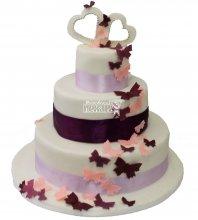 №462 Свадебный торт классический