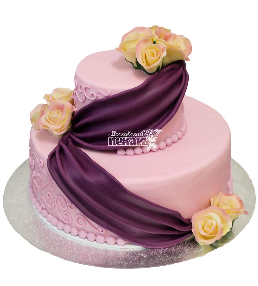 №464 Свадебный торт классический