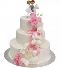 №465 Свадебный торт классический