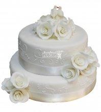 №466 Свадебный торт классический