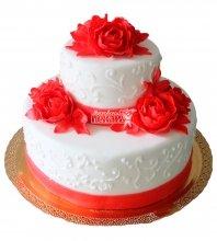 №223 Свадебный торт классический
