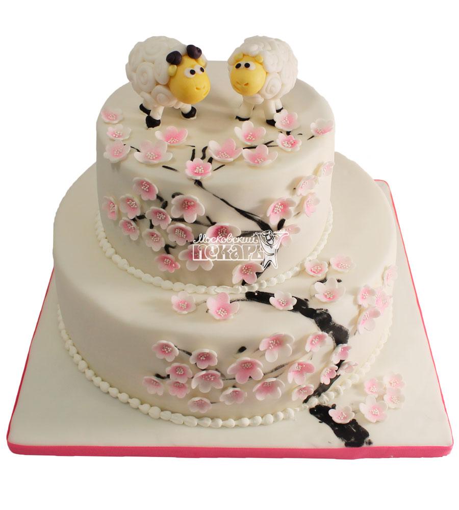№472 Свадебный торт классический