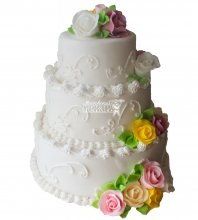 №220 Свадебный торт классический