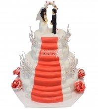 №245 Свадебный торт классический