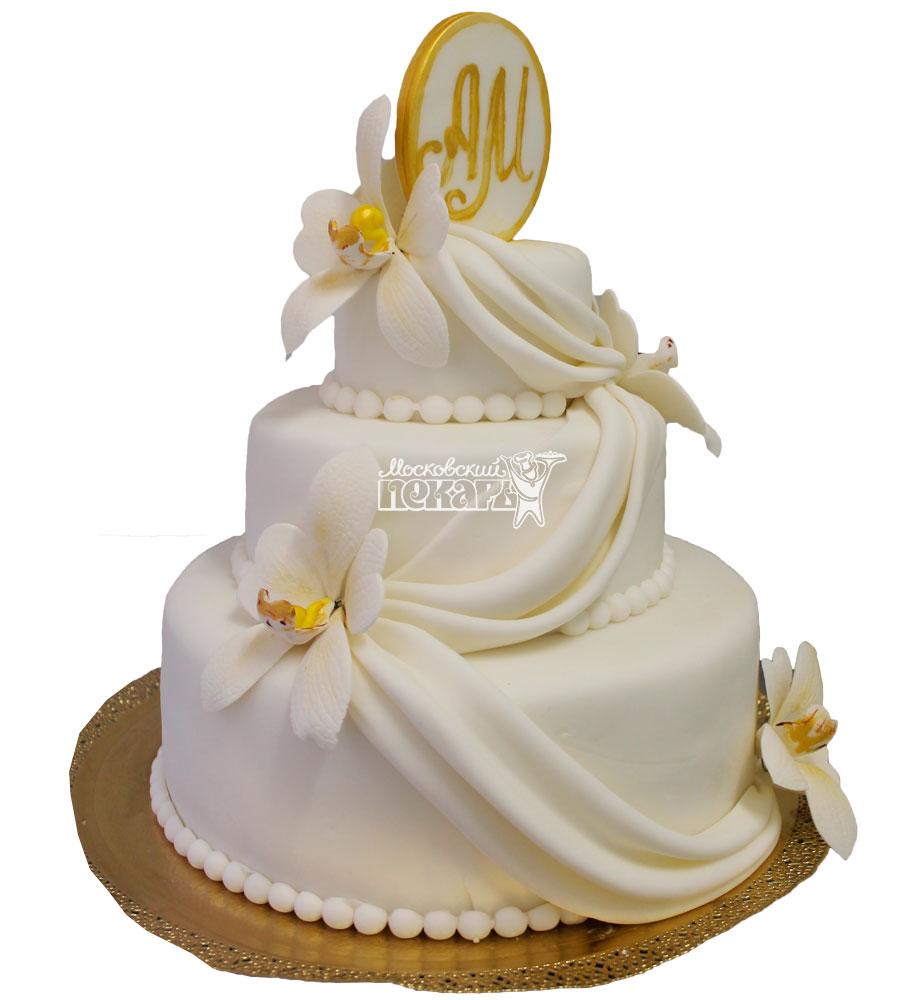 №329 Свадебный торт классический