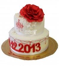 №302 Свадебный торт классический