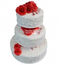 №319 Свадебный торт классический