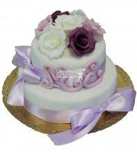 №284 Свадебный торт классический