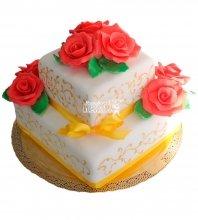 №229 Свадебный торт классический