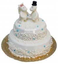 №339 Свадебный торт классический