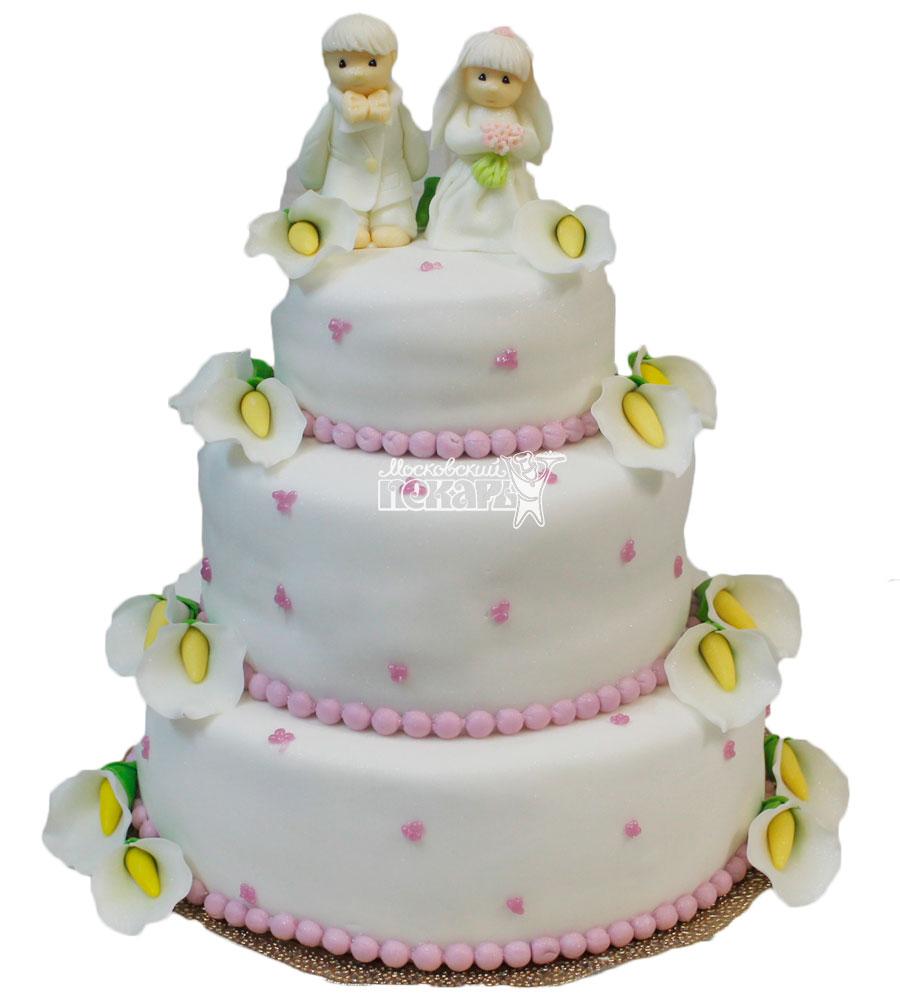 №315 Свадебный торт классический