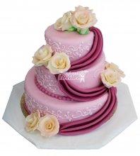 №340 Свадебный торт классический