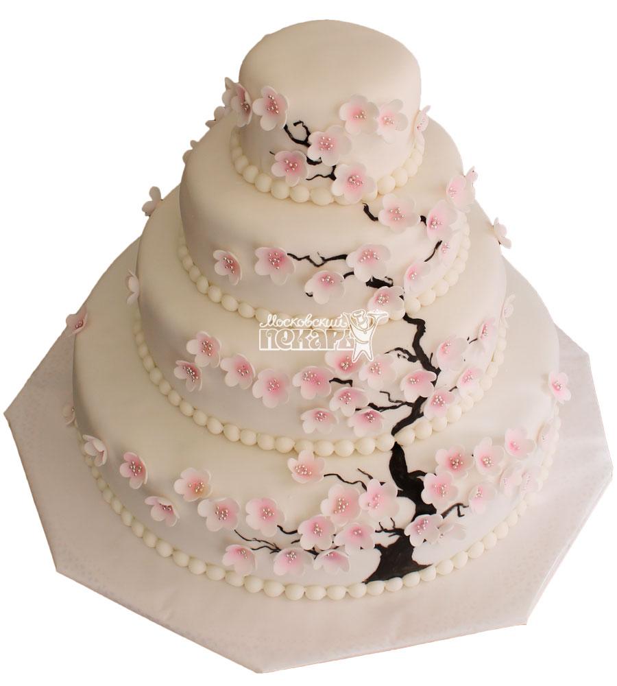 №232 Свадебный торт классический