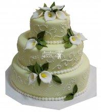 №280 Свадебный торт классический