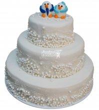 №214 Свадебный торт классический