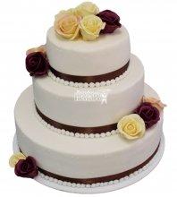 №263 Свадебный торт классический
