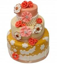 №262 Свадебный торт классический