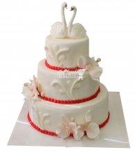 №334 Свадебный торт классический