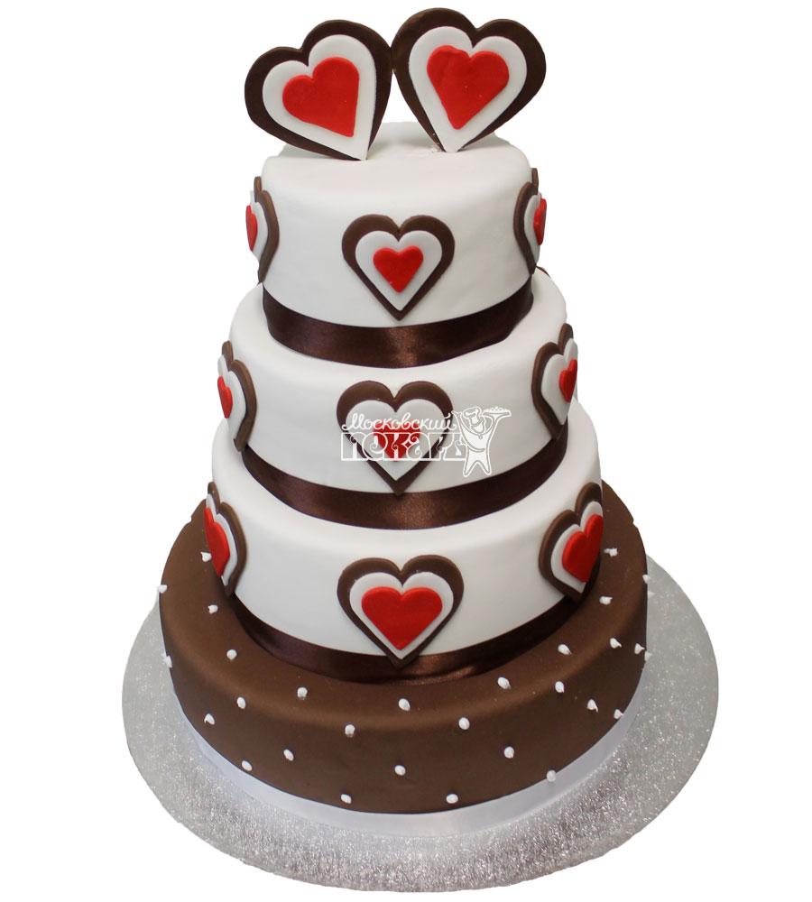 №298 Свадебный торт классический