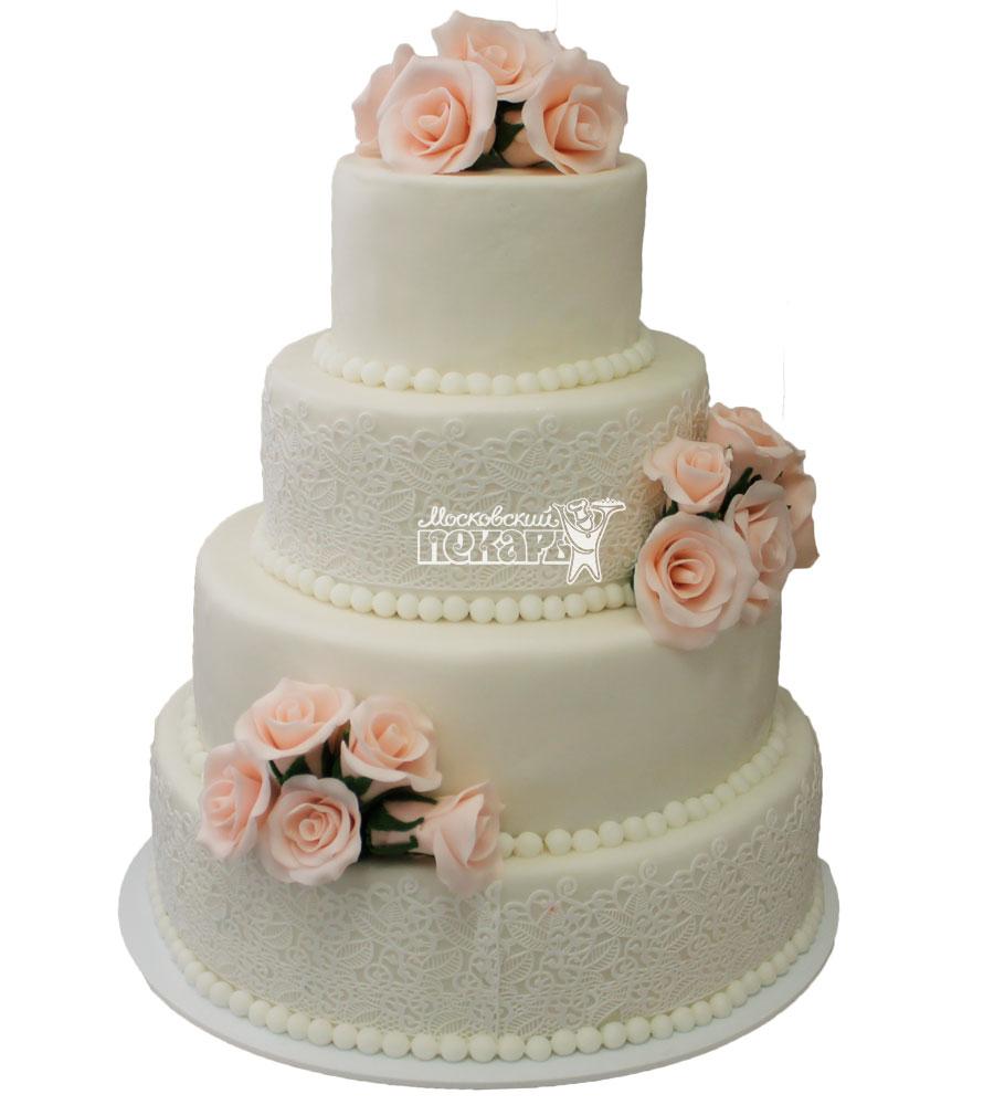 №247 Свадебный торт классический