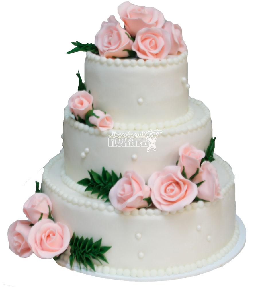 №254 Свадебный торт классический