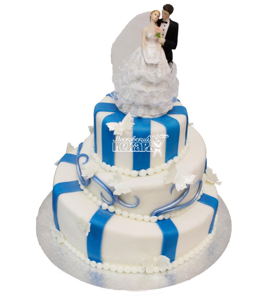 №235 Свадебный торт классический