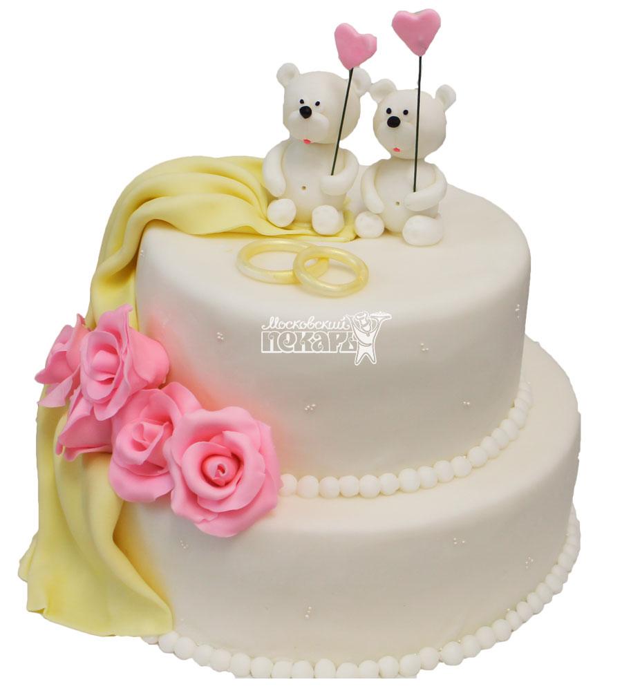 №219 Свадебный торт классический