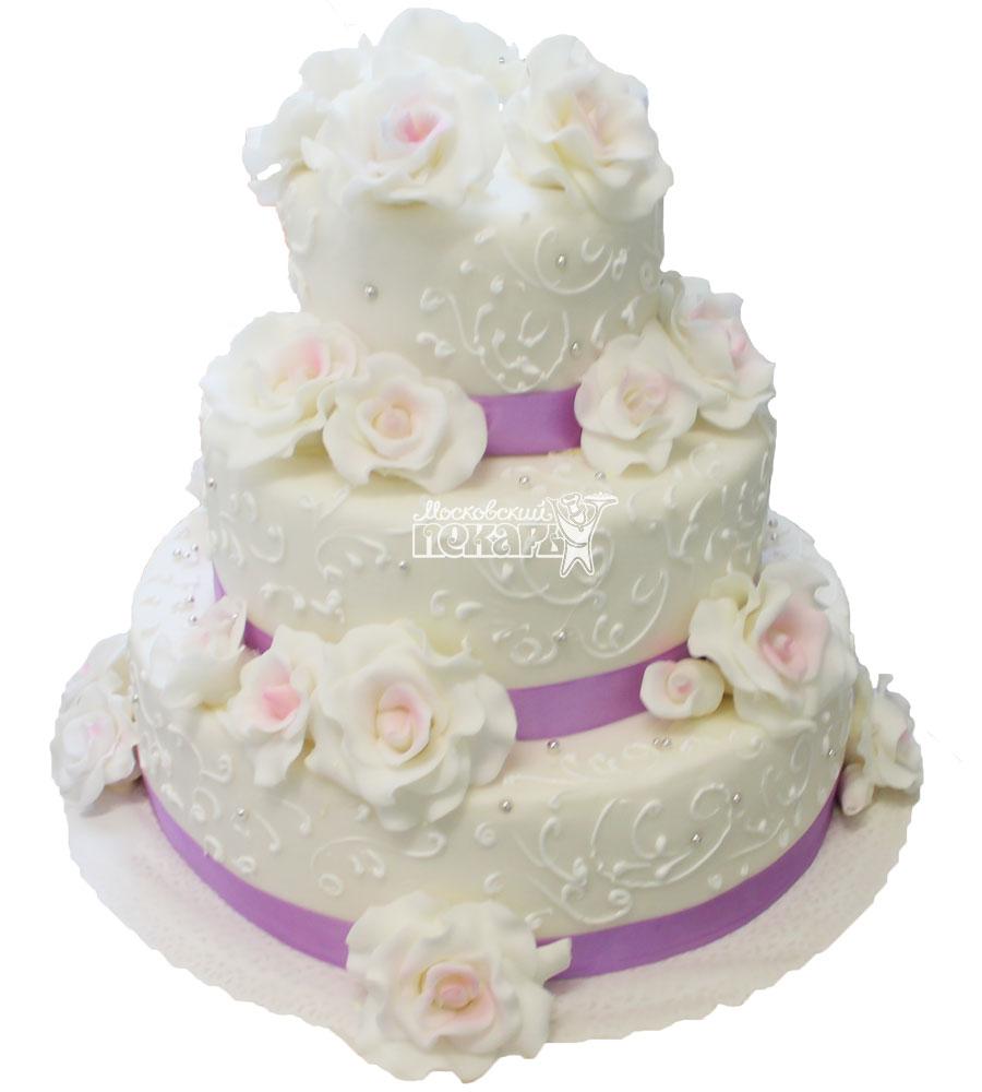 №308 Свадебный торт классический