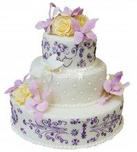 №287 Свадебный торт классический