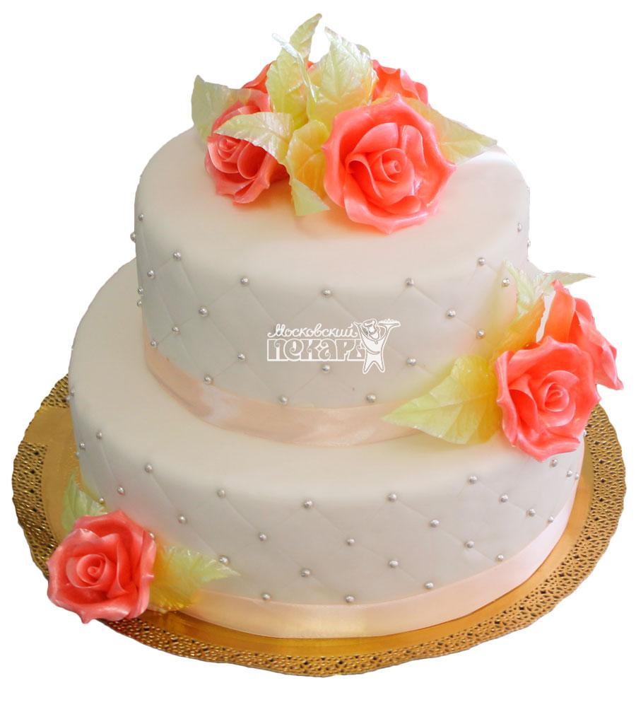 №243 Свадебный торт классический