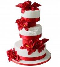№267 Свадебный торт классический