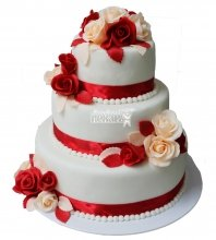 №328 Свадебный торт классический