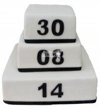 №260 Свадебный торт классический