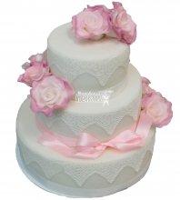 №264 Свадебный торт классический
