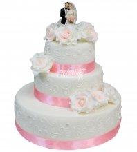 №238 Свадебный торт классический