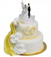 №279 Свадебный торт классический